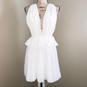 Ivory Ruffled Layered Dress
